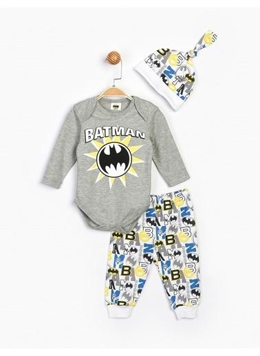 Batman  Bebek Takım Ve Şapka 16406 Gri
